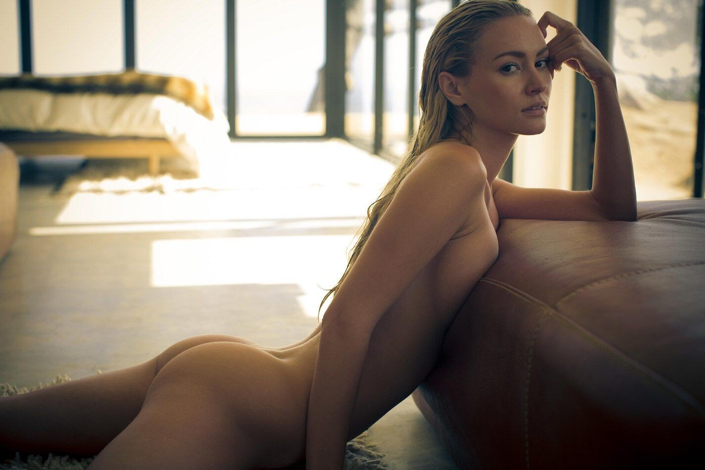 Playboy Model Bryana Holly Rocks A Raunchy Look As She Smoulders Topless By Some Boulders