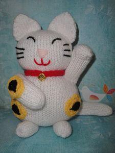 Lucky Cat Amigurumi pattern by jennyandteddy - Ravelry | 300x225