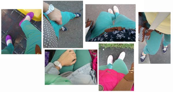 про сине зеленые джинсы