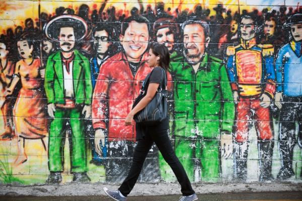 Hugo Chavez and Fidel Castro