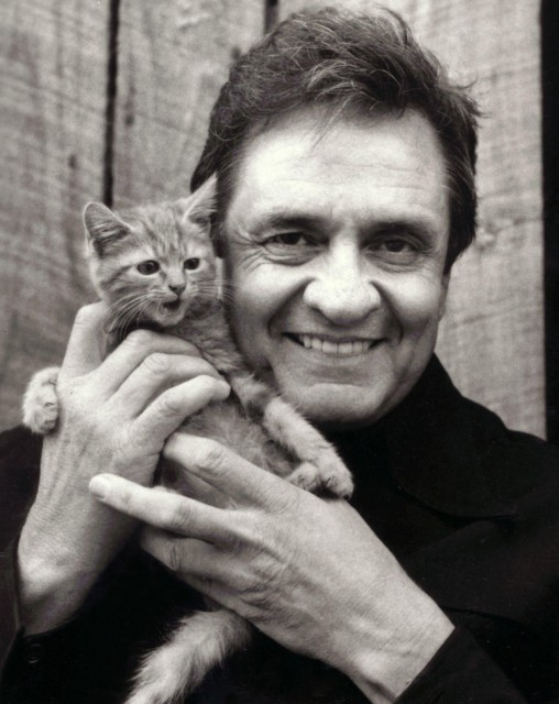 Johnny Cash and kitten. What else do you need?