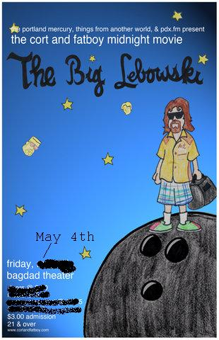 Bobby Roberts's art for the 2010 screening of 'The Big Lebowski,' updated! (Badly. By me.)