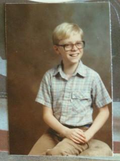 1984: Me, fourth grade (Trantwood Elementary, Virginia Beach, VA), age 10.