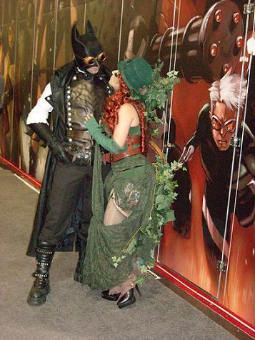 Steampunk Batman and Poison Ivy
