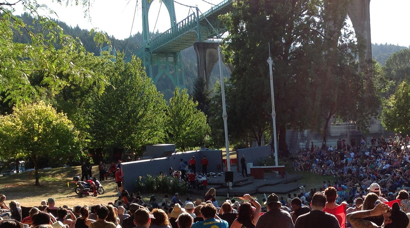 The aftermath. St. Johns Bridge in background.
