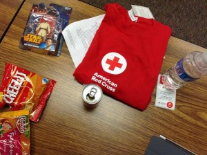Blood donation swag 12-28-2013