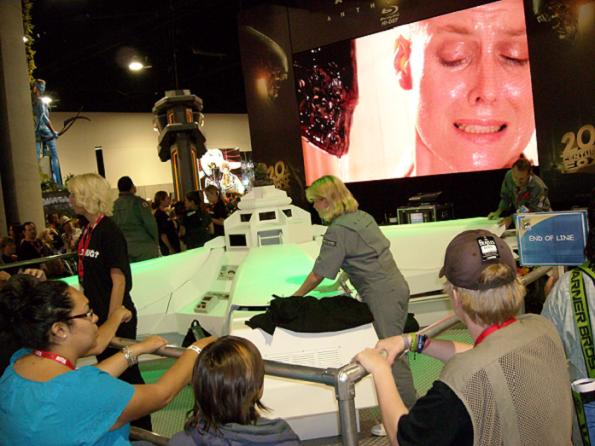 The 'Alien' booth