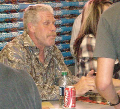 Actor Ron Perlman briefly rests his eyes.