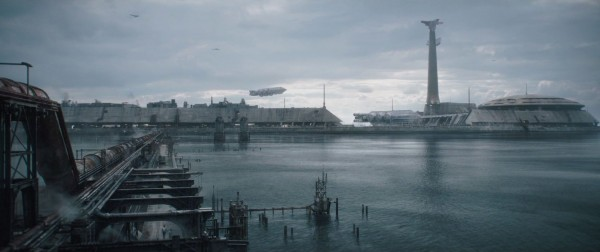 An industrial area where young Han Solo lives
