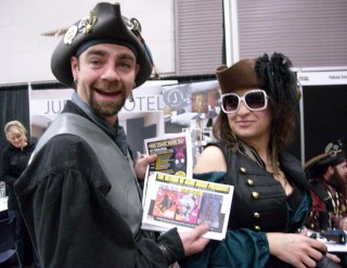 Now to Sunday! Pirate couple Jaime Kirk and Hollyanna McCollum of PDX Yar