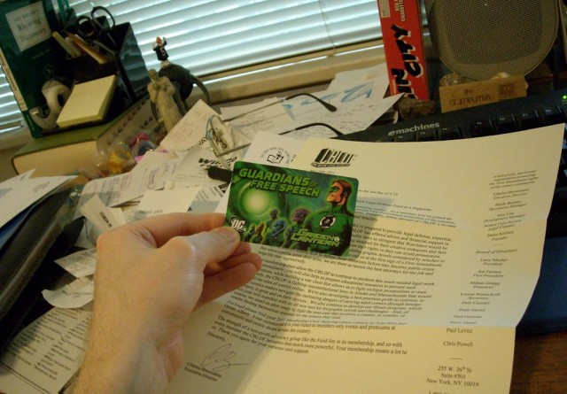 My CBLDF membership card!
