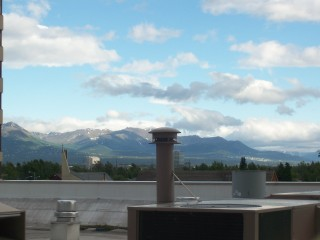 View of Anchorage in the morning from our hotel room