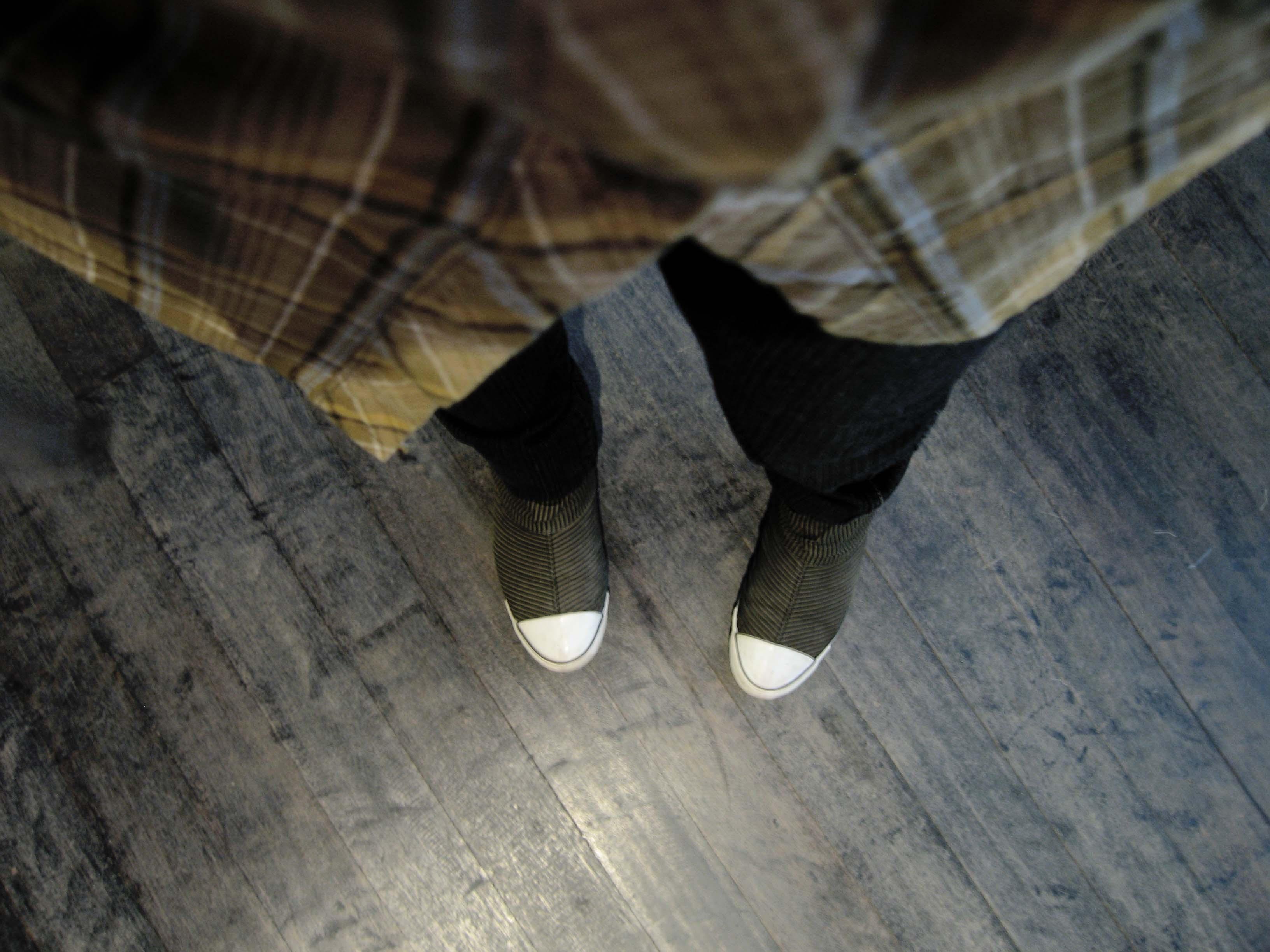 my feet and the floor