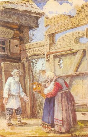 Иллюстрация к сказке «Избушка на курьих ножках»1889