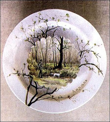 Поленова-Тарелочки Времена года