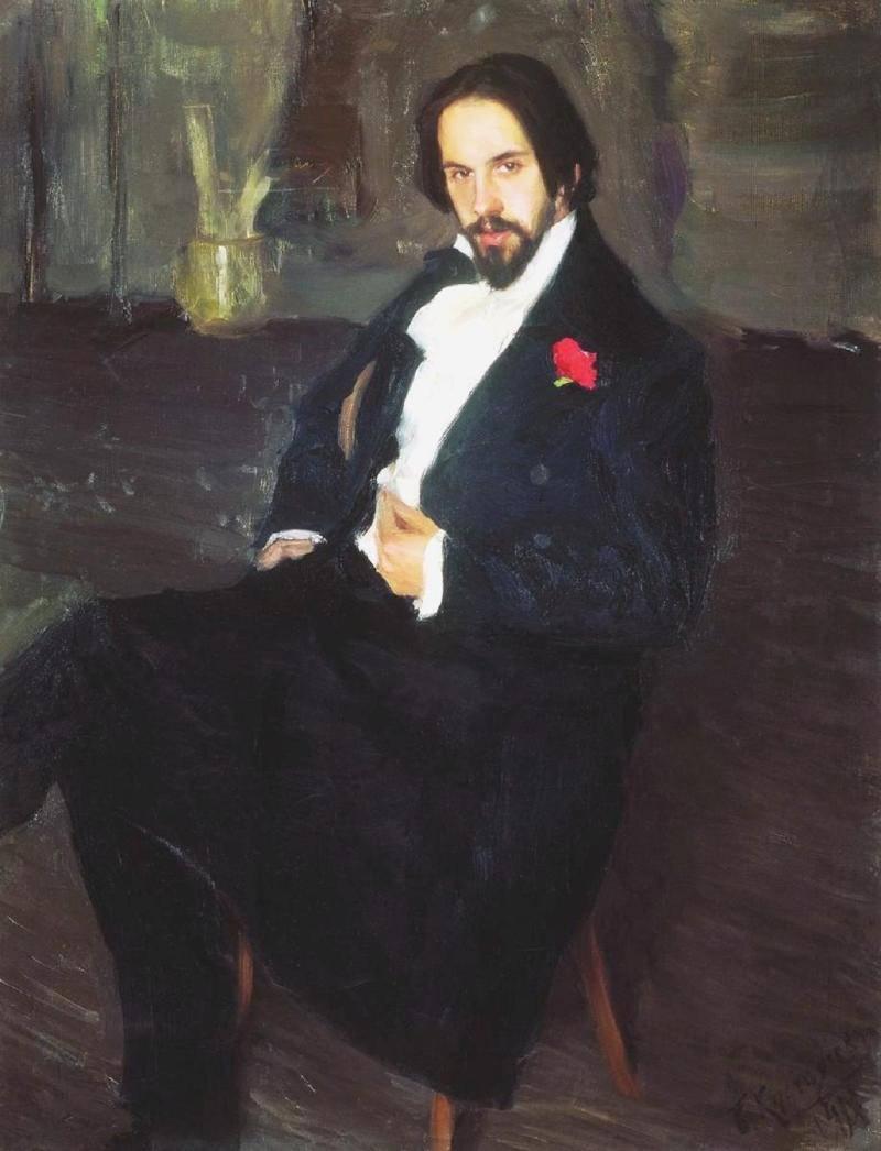 портрета И Билибина работы Б Кустодиева