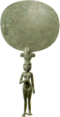 egyptian bronze mirror, ancient kingdom