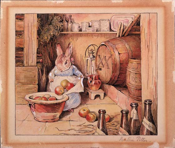 cecily_parsley_making_cider_from_cecily_parsleys_nursery_rhymes_watercolour_about_1905