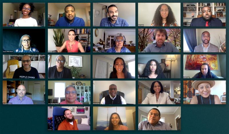 Участники трехдневного онлайн-симпозиума, организованного Офисом по связям с общественностью бахаи США, под названием «Продвигаясь вместе: прокладывая путь к справедливому, инклюзивному и единому обществу».