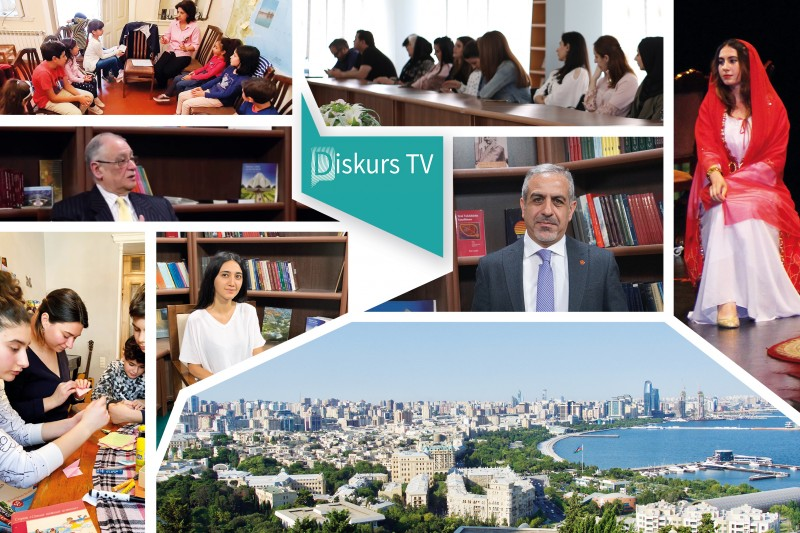 Недавно запущенный канал «Дискурс-ТВ» глубоко обсуждает такие темы, как равенство женщин и мужчин и роль СМИ в обществе. Этот канал был открыт Управлением по внешним связям бахаи Азербайджана с целью поддержать конструктивные дискуссии, ведущиеся в стране.