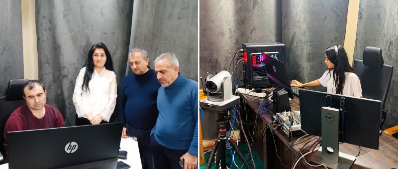За кулисами съёмок недавнего выпуска «Дискурс-ТВ» — инициативы Управления по внешним связям бахаи Азербайджана.