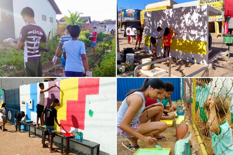 Молодёжь по всей Бразилии, участвующая в образовательных программах бахаи, организует различные виды общественной деятельности во имя процветания своих сообществ.