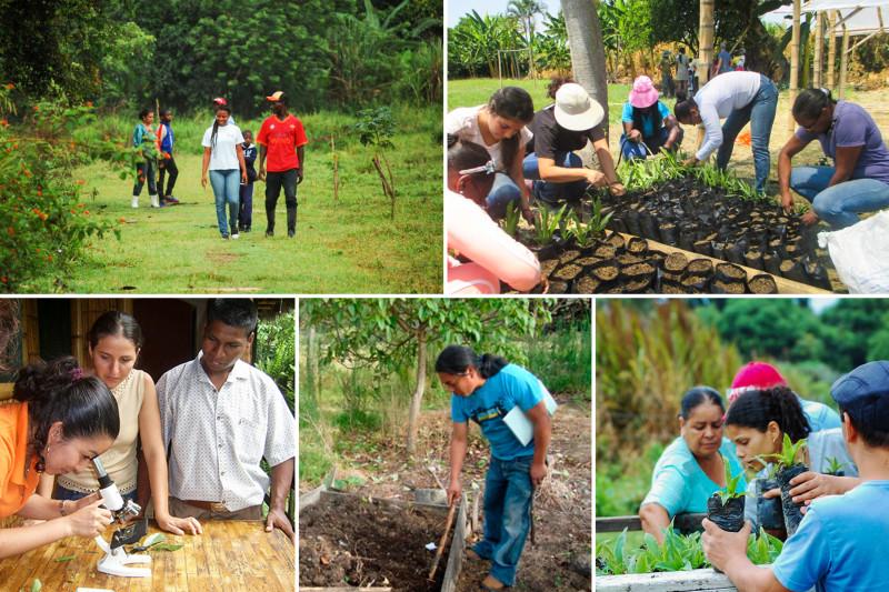 Участники различных сельскохозяйственных инициатив общин бахаи в разных странах.