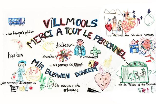 Дети, посещающие уроки нравственного воспитания, предлагаемые бахаи Люксембурга, делали открытки и рисунки, чтобы доставить радость медицинским работникам и другим людям, оказывающим базовые услуги во время кризиса в области здравоохранения.