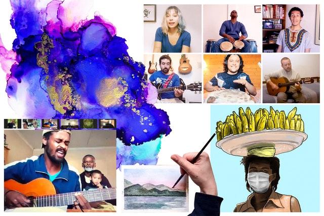 Люди всех возрастов, особенно молодёжь, нашли способы поднять настроение своих сограждан с помощью музыки, подкастов, картин и рисунков, театра, кукольных представлений, поэзии и цифрового дизайна. Такие работы сосредоточены на раскрытии красоты, существующей в мире, и на передаче новых взглядов на текущие обстоятельства.