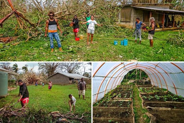 В апреле, в разгар пандемии, когда циклон «Гарольд» обрушился на северные острова Вануату, степень единства и коллективных действий, достигнутых благодаря просветительской деятельности общины бахаи, позволила множеству людей быстро отреагировать и начать восстановление зданий и сельскохозяйственных угодий.