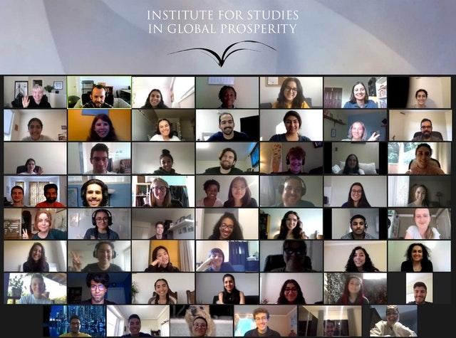 Чтобы помочь студентам университетов ориентироваться в вопросах, касающихся направления, в котором движется мир, и их собственного места в нём, Институт исследований глобального процветания (ISGP) создаёт пространства для молодых людей, в основном онлайн, где они могут собираться вместе для предметных дискуссий.