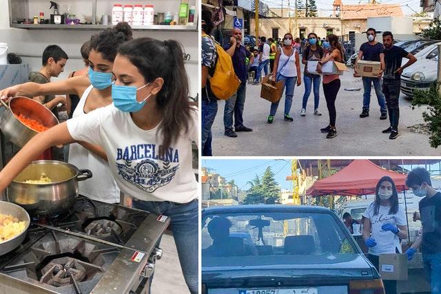 Через несколько дней после взрыва, потрясшего Бейрут в августе, группа молодых людей, участвовавших в усилиях по построению общины бахаи, оперативно составила планы оказания помощи и восстановления нормальной жизни. Они создали сеть волонтёров под названием «Центр помощи», чтобы координировать действия других активистов в городе.