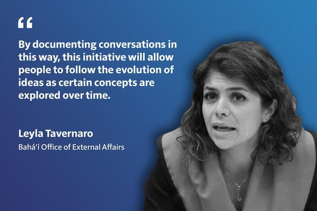 «Благодаря такому документированию разговоров эта инициатива позволит людям следить за развитием идей по мере того, как определённые концепции развиваются с течением времени».