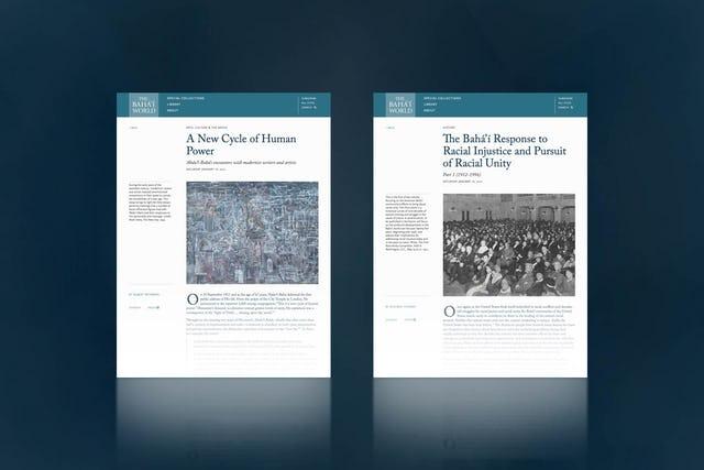 В новом онлайн-выпуске «Мира бахаи» опубликованы две новые статьи:  «Новый цикл человеческого могущества» и «Ответ бахаи на расовую несправедливость — стремление к расовому единству: часть 1 (1912-1996 гг.)».