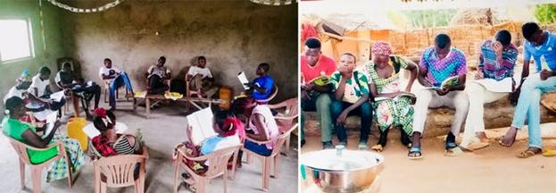 Фотографии сделаны до нынешнего глобального кризиса в области здравоохранения. Участники инициатив бахаи Чада по построению общин.