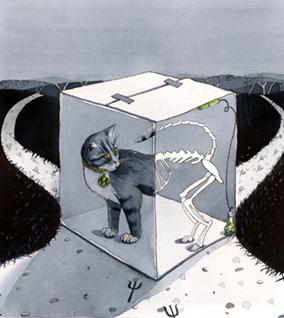 Кошка Шрёдингера — не жива и не мертва, пока ты не откроешь ящик.
