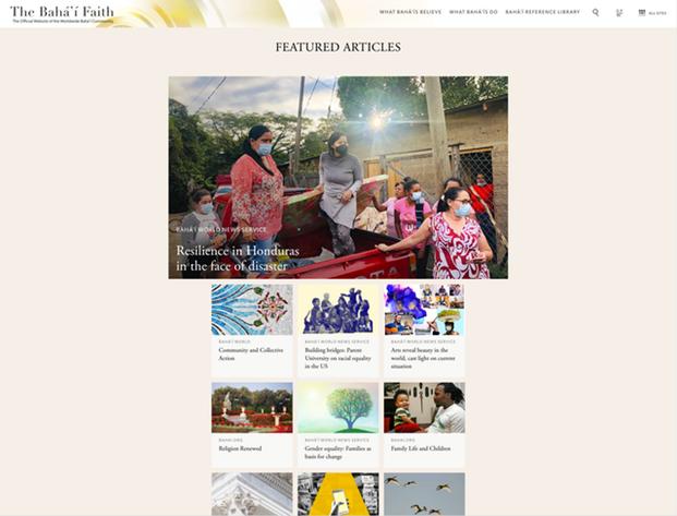 Обновления на сайте включают новый раздел «Избранные статьи», где посетители найдут тщательно отобранный контент, собранный со всех веб-сайтов семейства Bahai.org.