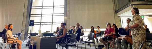Очные встречи проводятся в соответствии с мерами безопасности, установленными правительством. Обсуждение на Австралийской столичной территории. Участники изучали, как можно построить более сплочённое общество.