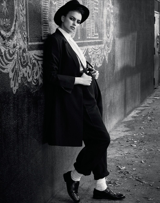 черно-белое кино с Ириной Шейк / Irina Shayk by Luigi & Iango - Vogue Russia march 2017