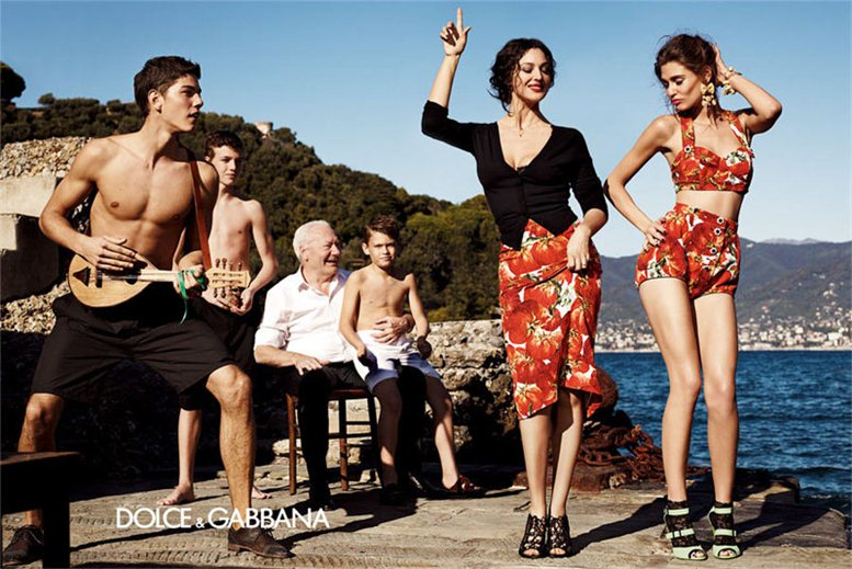 Bianca Balti and Monica Bellucci / Моника Беллуччи и Бьянка Бэлти, фотограф Giampaolo Sgura в рекламной кампании Dolce Gabbana, весна 2012