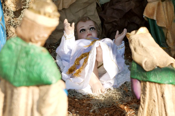 unfortunate view of baby Jesus