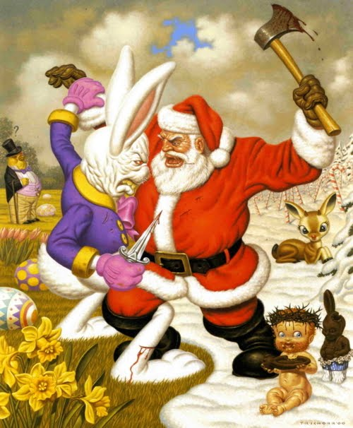 santa and the bunny