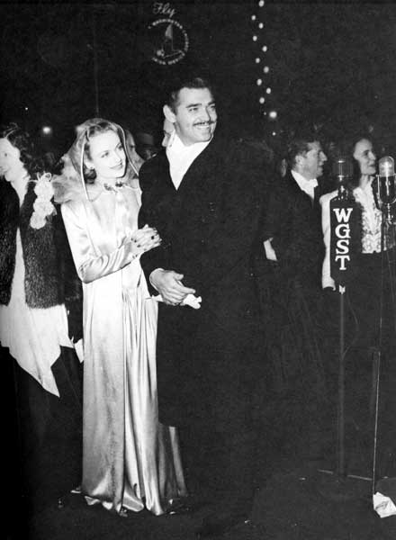 Carole Lombard and Clark Gable at the GWTW world premiere