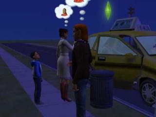 The family saying goodbye to Adona