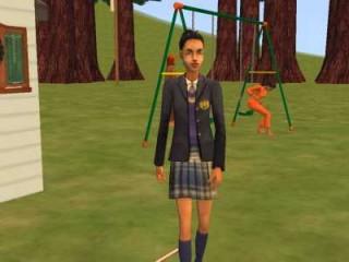 Adona in her uniform