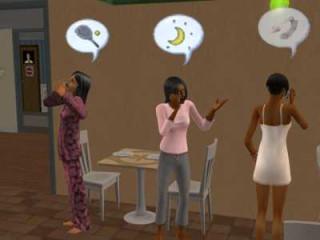 Adona, Ekene and Kirabo on the phone