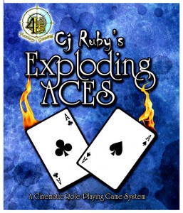 exploding_aces_blue_with_fire_front_only_by_crimsonvermillion-d58iz8i