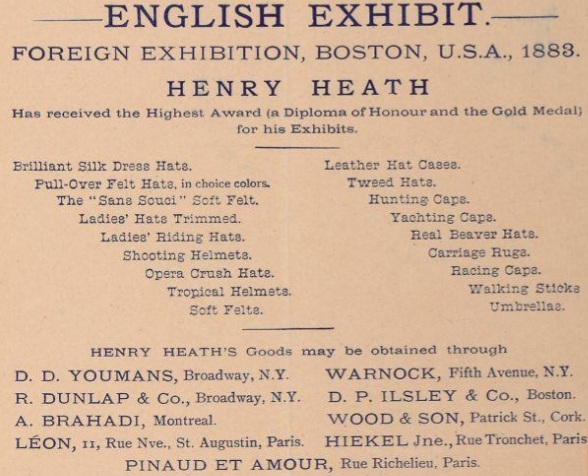 Henry Heath, manufacturer of many hats!