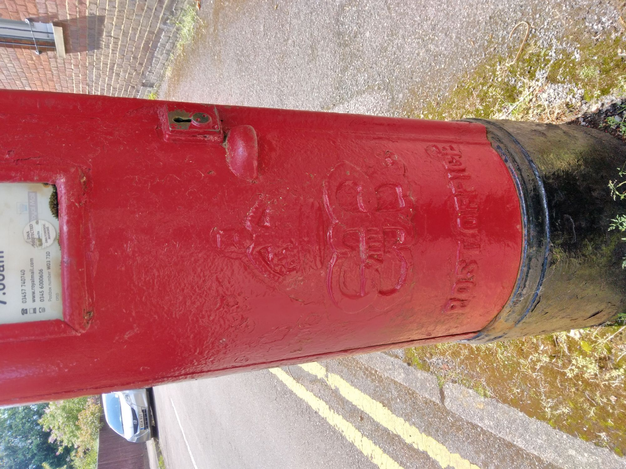 In the wilds of Chorleywood... a King Edward VIII. postbox