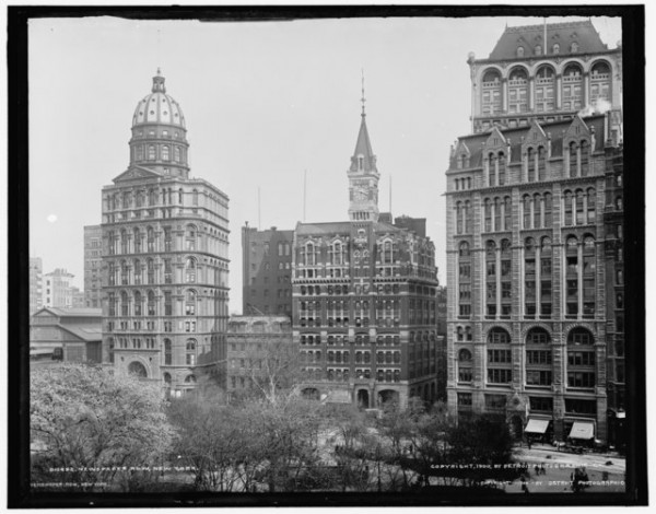 New-York-World-Building-Joseph-Pulitzer-Demolished-Brooklyn-Bridge-Newspaper-Row-NYC